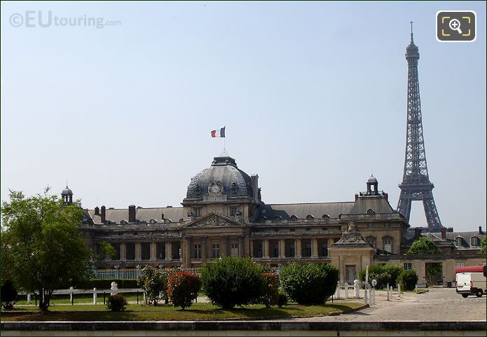 Ecole Militaire With The Eiffel Tower