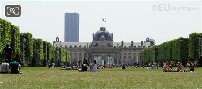 Ecole Militaire And The Champ De Mars