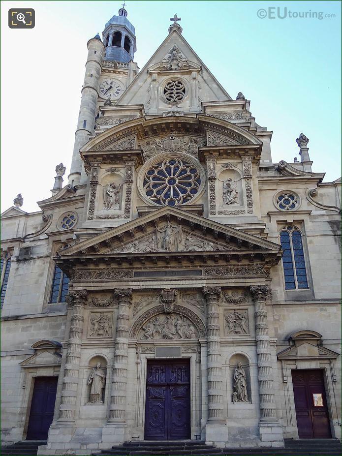 Eglise Saint-Etienne-du-Mont Centre Pavilion And Entrance