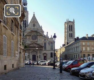 View Of Eglise Saint-Etienne-du-Mont From Place Du Pantheon