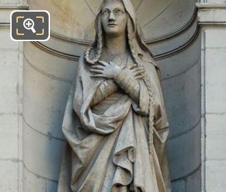 Eglise Saint-Etienne-du-Mont Saint Genevieve Statue By Victor Baltard