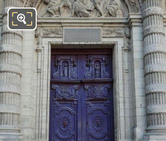 Eglise Saint-Etienne-du-Mont Front Doors And Entrance