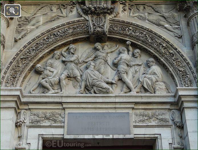 Stoning Of Saint Stephen Sculpture On Eglise Saint-Etienne-du-Mont