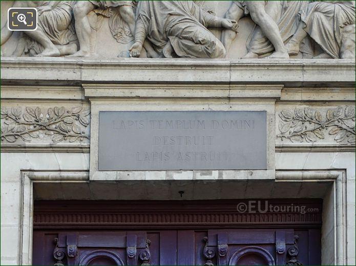 Eglise Saint-Etienne-du-Mont Latin Inscription Above Main Doors