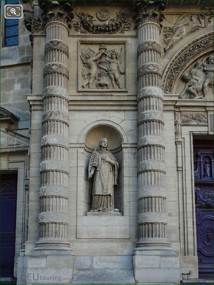 Eglise Saint-Etienne-du-Mont Saint Etienne Statue