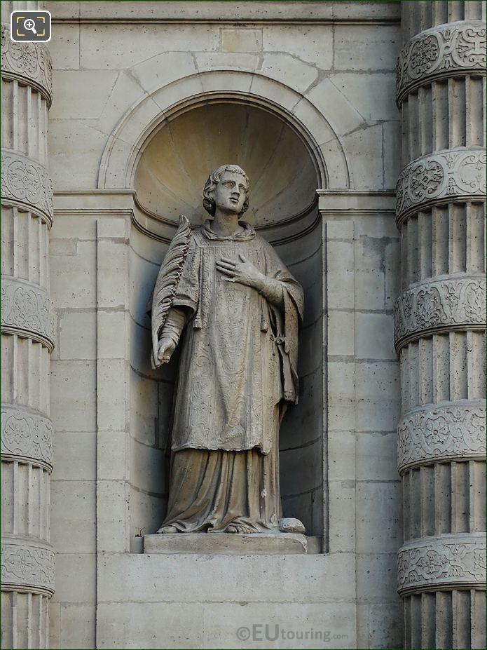 Eglise Saint-Etienne-du-Mont Saint Stephen Statue