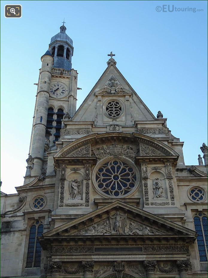 West Rose Window On Saint-Etienne-du-Mont Church