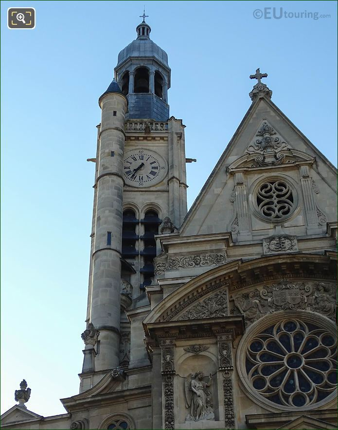 Eglise Saint-Etienne-du-Mont Steeple And Bell Tower