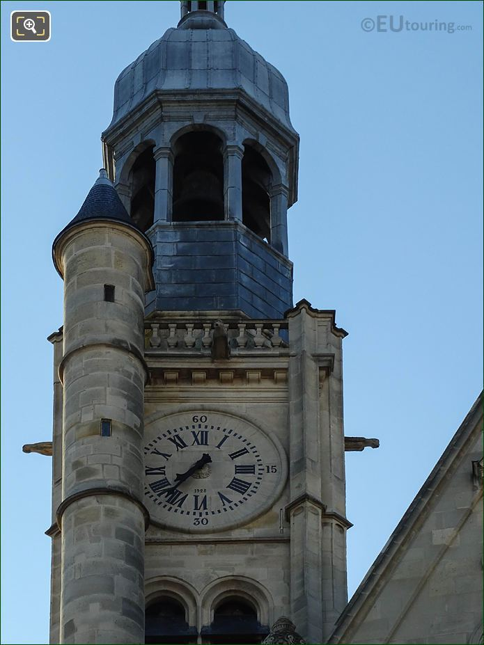 Saint-Etienne-du-Mont Church Bell Tower And Clock