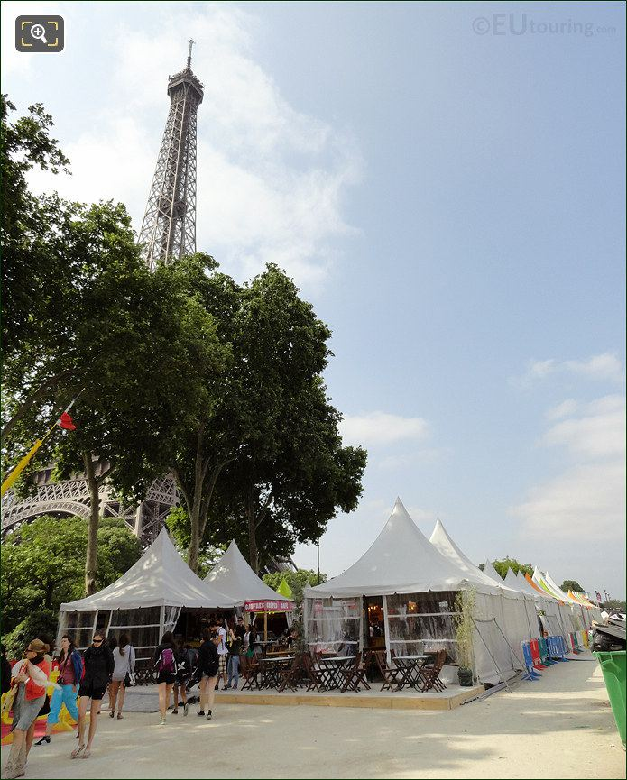 Market Next To The Eiffel Tower