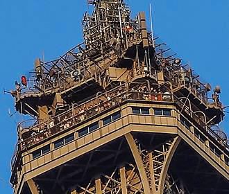 Top Section Of The Eiffel Tower