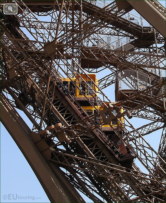 Stairs And Elevators At The Eiffel Tower