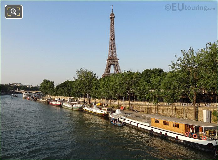 Eiffel Tower With The River Seine