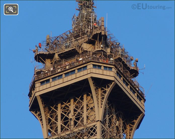 Eiffel Tower Top Viewing Platform