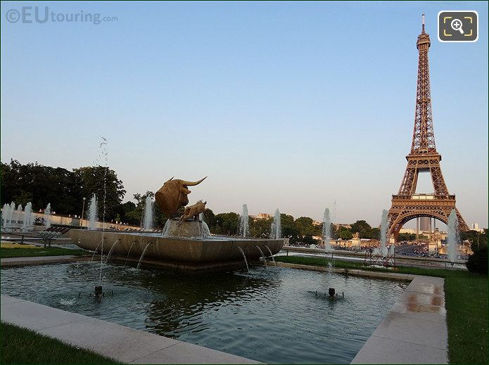 Eiffel Tower And Water Fountains