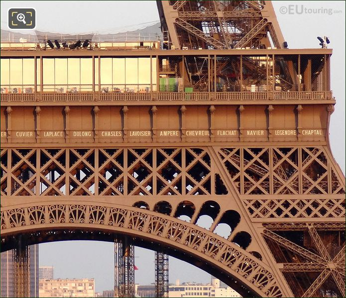 Names Inscribed On The Eiffel Tower