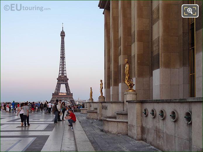 Eiffel Tower From Parvis Des Droits De l Homme