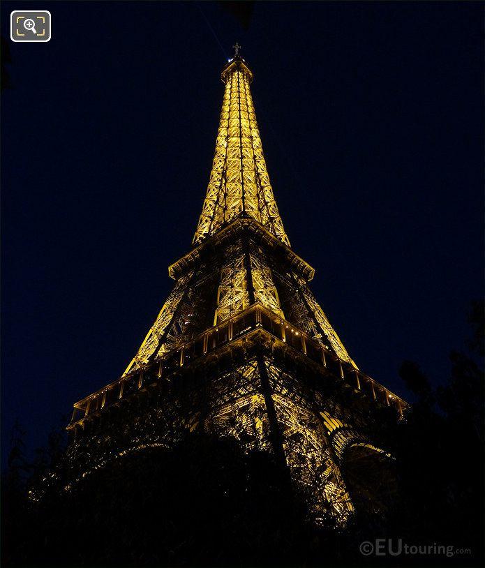 Eiffel Tower Lights From Allee des Refuzniks