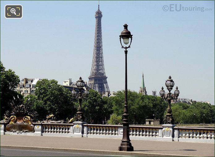 Eiffel Tower From The Pont Alexandre III