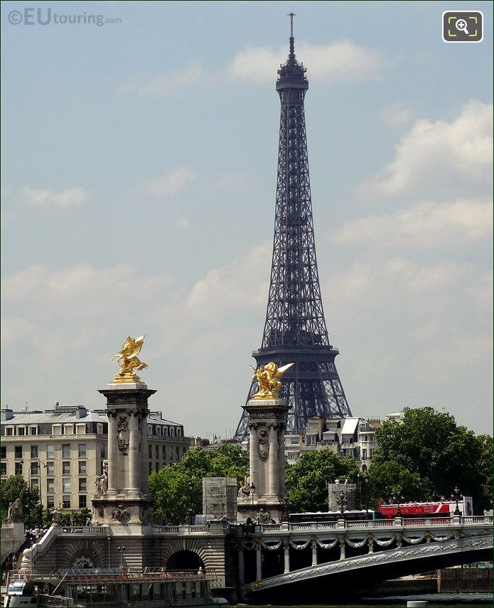 Eiffel Tower With Pont Alexandre III