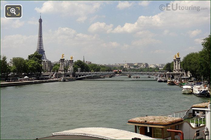 Eiffel Tower With Pont Alexandre III Bridge