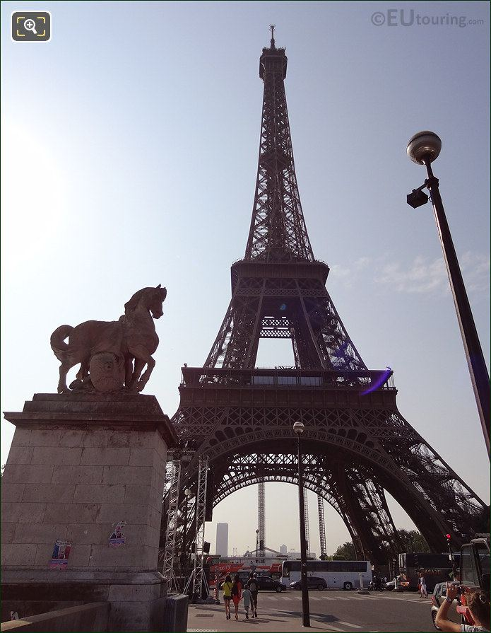 Eiffel Tower With Gallic Warrior Statue