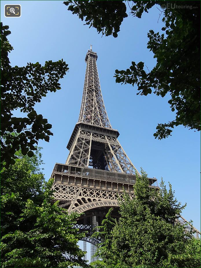 Eiffel Tower NE Facade