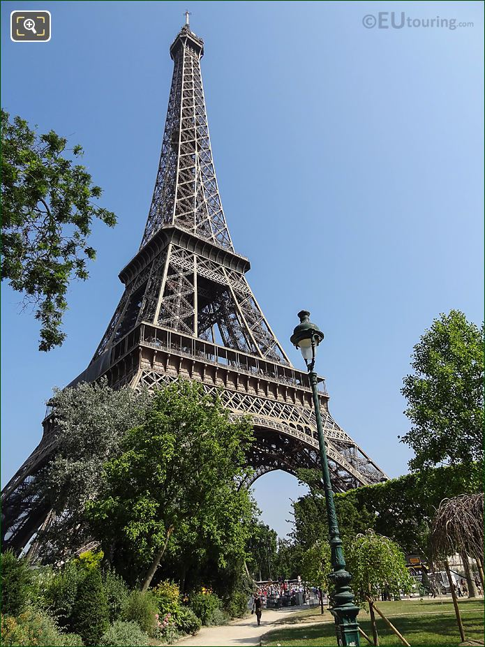 Eiffel Tower SE And SW Facades