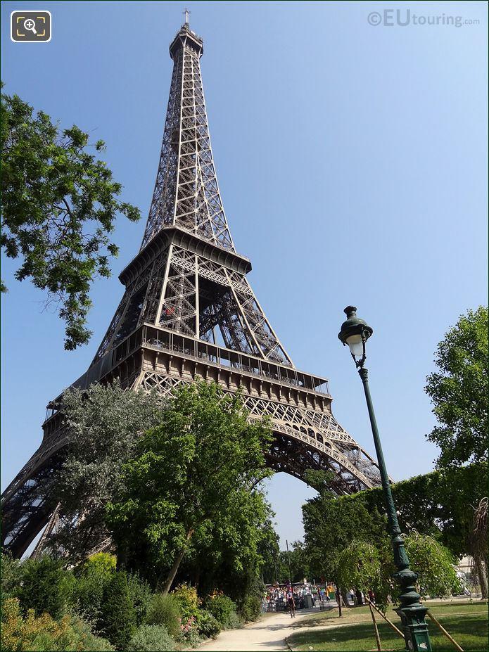 Eiffel Tower In The Champ De Mars