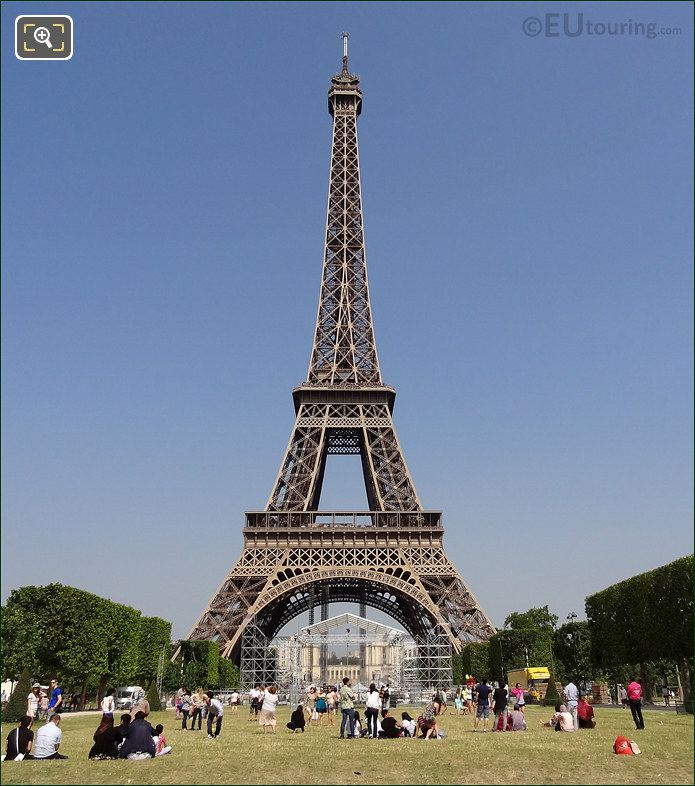 Eiffel Tower And The Champ de Mars