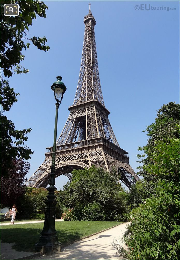 Eiffel Tower And The Allee Maurice Baumont Pathway