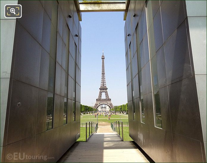Eiffel Tower And Wall For Peace