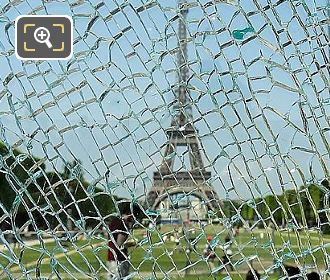 Eiffel Tower And Wall For Peace Glass