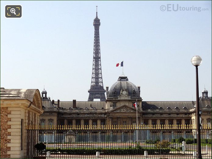 Eiffel Tower With The Ecole Militaire