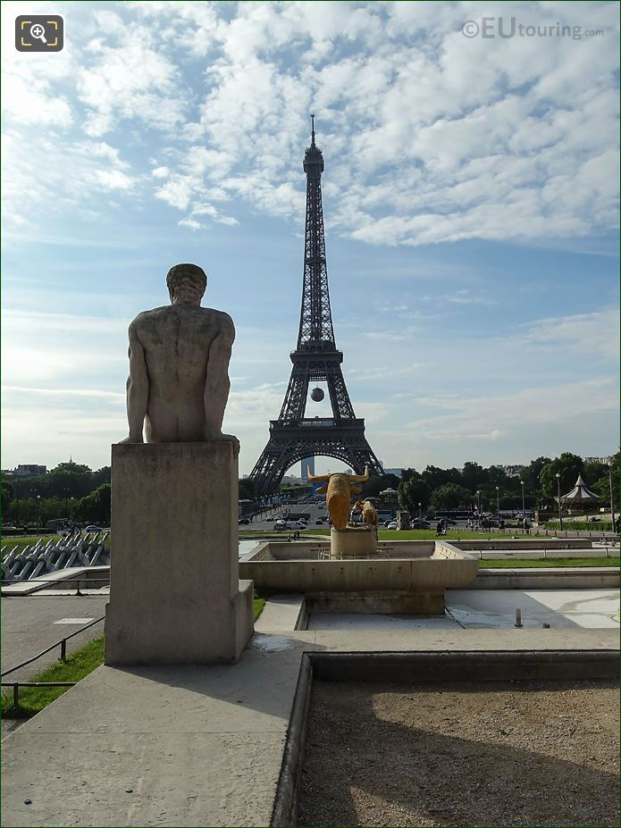 l Homme Statue And The Eiffel Tower