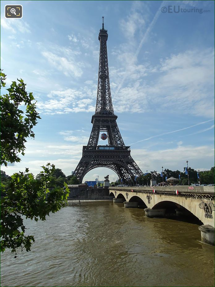 Eiffel Tower NW Facade