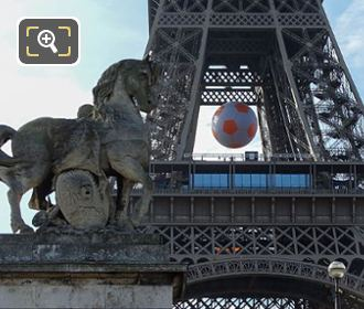 Gallic Warrior Statue At Eiffel Tower