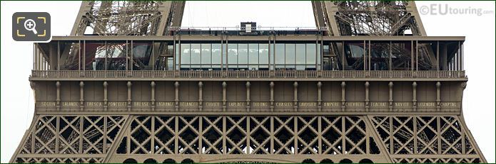 Eiffel Tower Names NW Facade