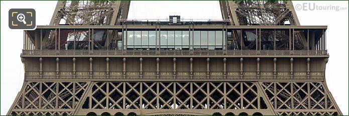 Eiffel Tower Names NW Facade