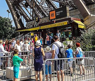 Ticket Office For Elevators At The Eiffel Tower
