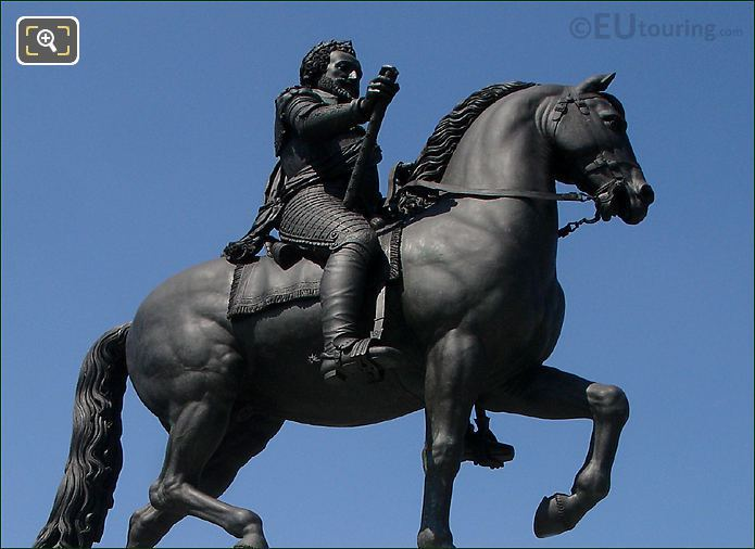 King Henri IV Sitting On His Horse