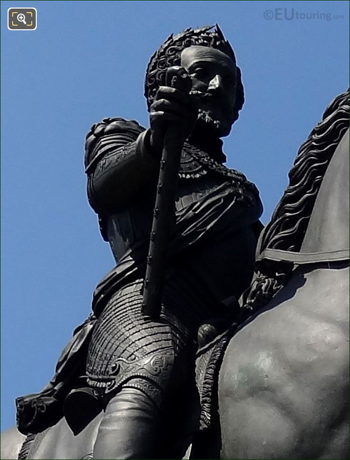 Photo Of Equestrian Statue King Henri IV In Paris