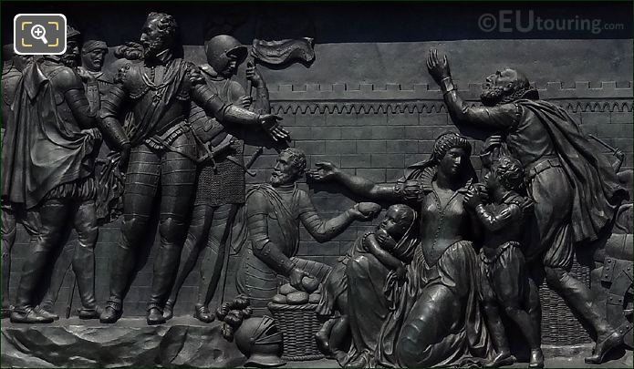 Bas Relief On King Henri IV Statue
