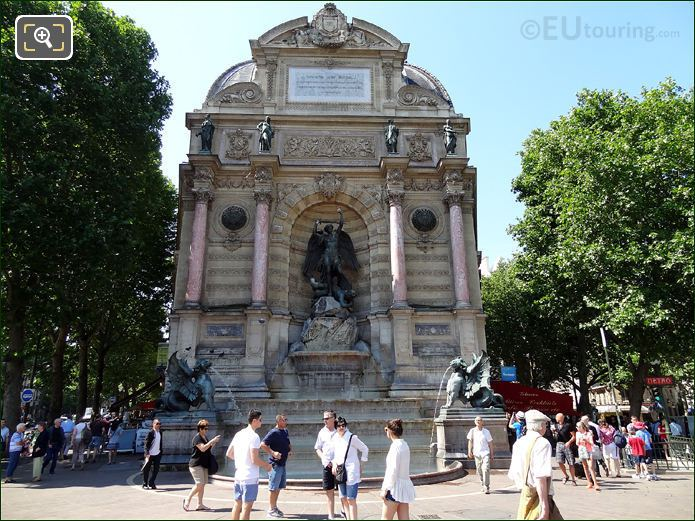 Fontaine Saint Michel In Paris