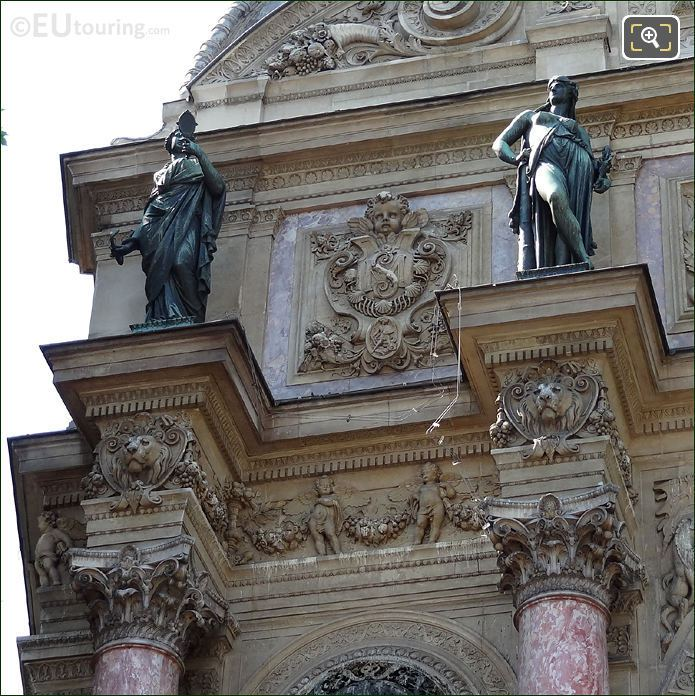 Prudence And Force Statues