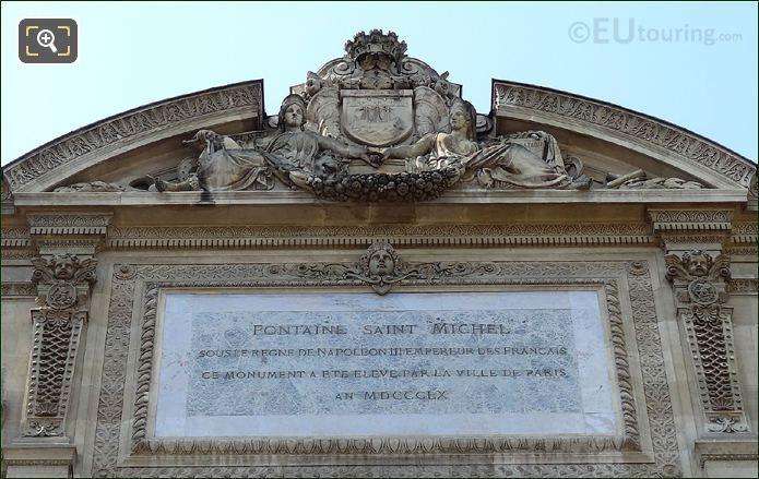 Fontaine Saint Michel Plaque