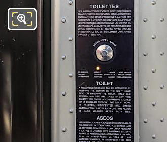 Control Panel And Instructions For Free Public Toilets In Paris