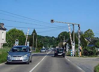 French railway crossing