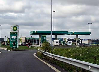 French petrol station