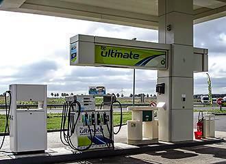 French petrol pumps